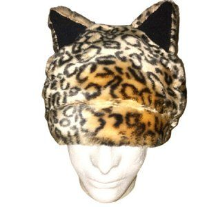Hot Topic Goorin Faux Fur Leopard Hat With Ears OS